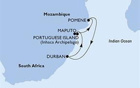 MSC Orchestra - Durban,Maputo,Portuguese Island,Pomene,Durban (Durban)