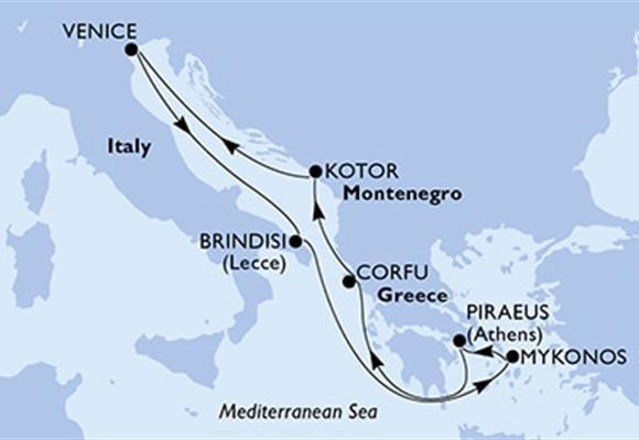 MSC Musica - Itálie,Řecko,Černá Hora (Brindisi)