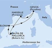 MSC Preziosa - Itálie,Francie,Španělsko (z Janova)