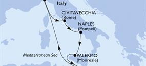 MSC Grandiosa - Itálie, Malta (Neapol)