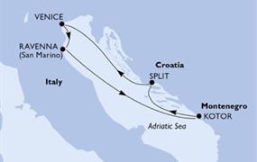 MSC Orchestra - Itálie,Černá Hora,Chorvatsko (z Benátek)