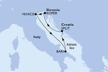 MSC Opera - Itálie,Chorvatsko,Slovinsko (z Benátek)