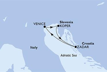 MSC Opera - Itálie,Slovinsko,Chorvatsko (z Benátek)
