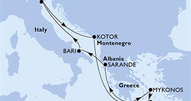 MSC Sinfonia - Itálie,Černá Hora,Řecko,Albánie (z Benátek)