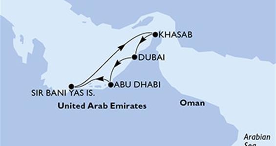 MSC Opera - Arabské emiráty,Omán (z Dubaje)