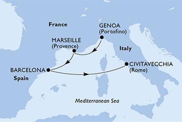 MSC Poesia - Itálie,Francie,Španělsko (z Janova)