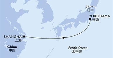 MSC Bellissima - Čína,Japonsko (ze Šanghaje)