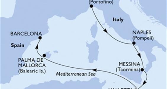 MSC Grandiosa - Itálie,Malta,Španělsko (z Janova)