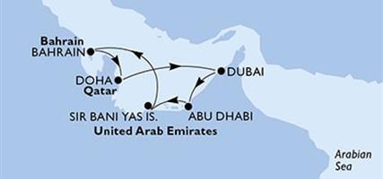 MSC Fantasia - Arabské emiráty,Bahrajn,Katar (z Abú Dhabí)