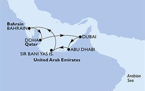 MSC Fantasia - Katar,Arabské emiráty,Bahrajn (Dauhá)