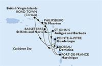 MSC Poesia - Martinik,Guadeloupe,Panenské ostrovy (British),Nizozemské Antily,Dominika,Sv.Kryštof a Nevis,Antigua a Barbuda