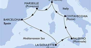 MSC Fantasia - Francie,Španělsko,Tunisko,Itálie (Marseille)