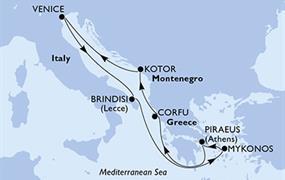 MSC Musica - Řecko,Černá Hora,Itálie (z Pirea)