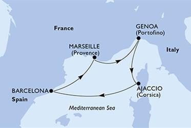 MSC Virtuosa - Itálie,Francie,Španělsko (z Janova)