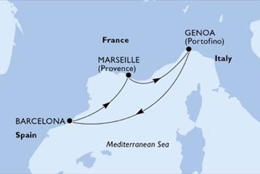 MSC Virtuosa - Itálie,Španělsko,Francie (z Janova)