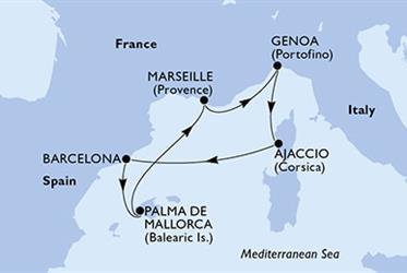 MSC Virtuosa - Francie,Itálie,Španělsko (Marseille)