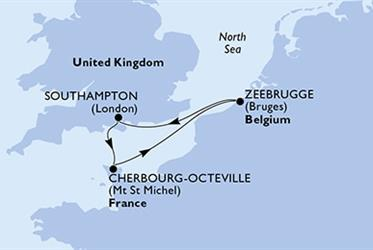 MSC Magnifica - Velká Británie,Francie,Belgie (ze Southamptonu)