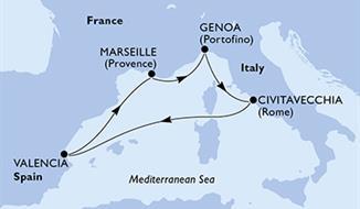 MSC Seaview - Francie,Itálie,Španělsko (Marseille)