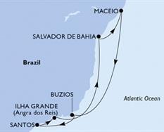 MSC Seaview - Santos,Ilha Grande,Salvador,Maceio,Buzios,Santos (Santos)