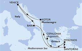 MSC Opera - Itálie,Černá Hora,Řecko (z Benátek)