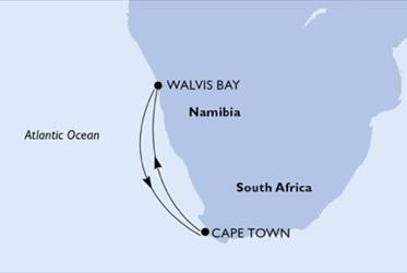 MSC Opera - Jihoafrická r.,Namíbie (Kapské město)