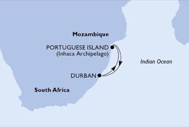 MSC Opera - Jihoafrická r.,Mosambik (Durban)