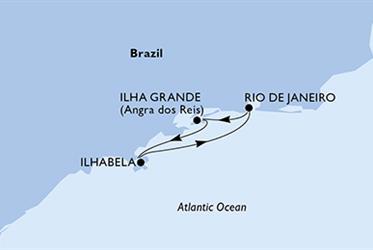 MSC Preziosa - Rio de Janeiro,Ilha Grande,Ilhabela,Rio de Janeiro (z Rio de Janeira)
