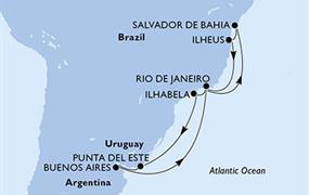 MSC Preziosa - Brazílie,Uruguay,Argentina (Salvador de Bahia)