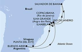 MSC Preziosa - Brazílie,Uruguay,Argentina (z Rio de Janeira)