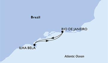 MSC Preziosa - Rio de Janeiro,Ilhabela,Rio de Janeiro (z Rio de Janeira)
