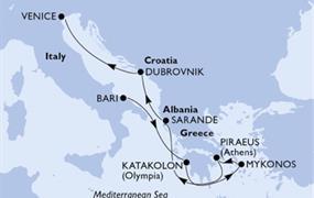MSC Orchestra - Itálie,Řecko,Albánie,Chorvatsko (Bari)