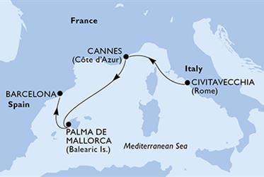 MSC Seaview - Itálie,Francie,Španělsko (z Civitavecchie)