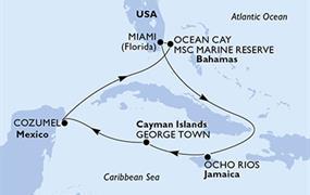 MSC Meraviglia - USA,Jamajka,Kajmanské ostrovy,Mexiko,Bahamy (z Miami)