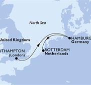 MSC Magnifica - Velká Británie,Německo,Nizozemí (ze Southamptonu)