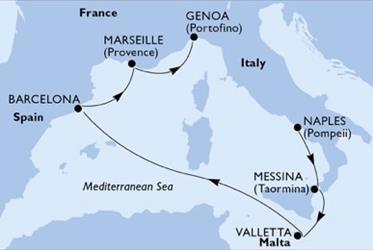 MSC Seashore - Itálie,Malta,Španělsko,Francie (Neapol)
