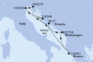 MSC Lirica - Itálie,Chorvatsko,Řecko,Černá Hora (z Benátek)