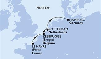 MSC Preziosa - Francie,Belgie,Nizozemí,Německo (Le Havre)