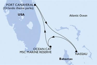 MSC Seaside - USA,Bahamy