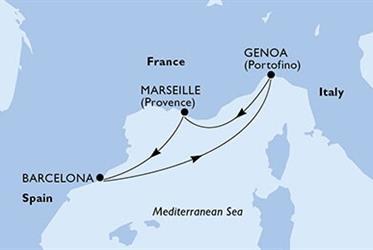 MSC Poesia - Španělsko,Itálie,Francie (z Barcelony)