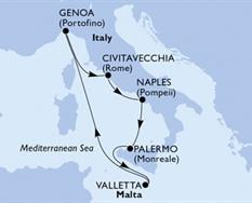 MSC Grandiosa - Itálie,Malta (Neapol)