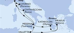 MSC Magnifica - Itálie,Malta,Řecko (z Janova)