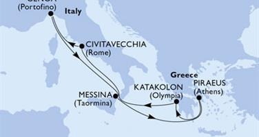 MSC Magnifica - Itálie,Řecko (z Civitavecchie)