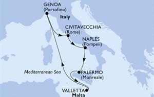 MSC Grandiosa - Civitavecchia,Neapol,Palermo,Valletta,Janov,Civitavecchia (z Civitavecchie)