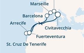 Costa Diadema - Itálie, Španělsko, Kanárské ostrovy, Francie (z Civitavecchie)