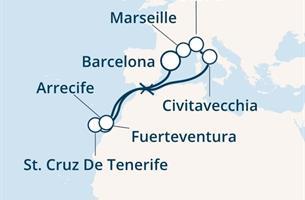 Costa Diadema - Španělsko, Francie, Itálie, Kanárské ostrovy (z Barcelony)