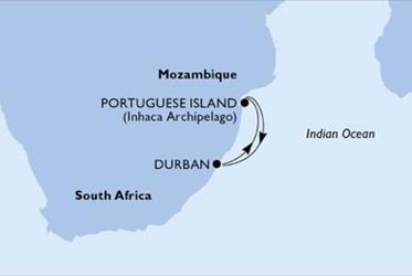 MSC Orchestra - Durban,Portuguese Island,Portuguese Island,Durban (Durban)
