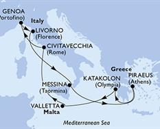 MSC Magnifica - Itálie,Řecko,Malta (z Civitavecchie)