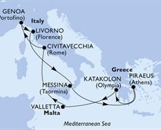 MSC Magnifica - Itálie,Řecko,Malta (z Janova)