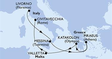 MSC Magnifica - Itálie,Řecko,Malta (Livorno)