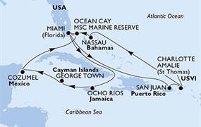 MSC Meraviglia - USA,Jamajka,Kajmanské ostrovy,Mexiko,Bahamy,Portoriko,Panenské ostrovy (U.S.)